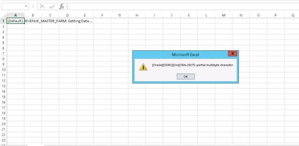Error in Excel