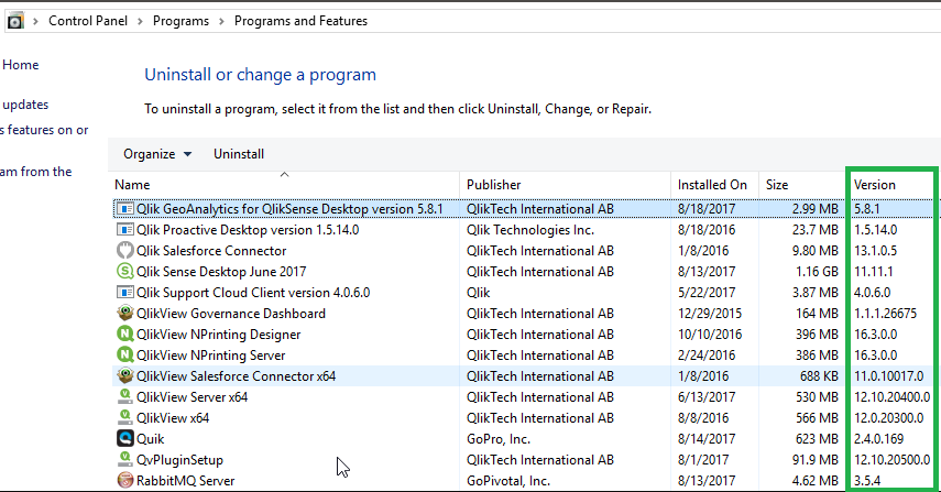 How to find the version number of your installed Qlik product