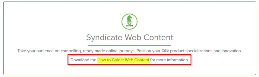 Syndicated web content